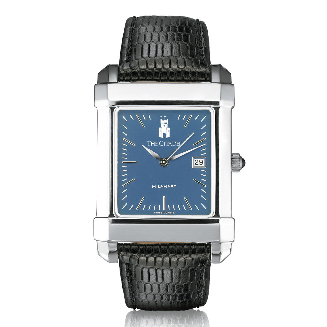 Citadel Men's Blue Quad Watch with Leather Strap - Image 2
