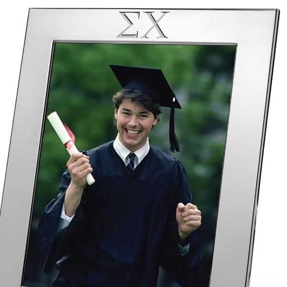 Sigma Chi Polished Pewter 8x10 Picture Frame - Image 2