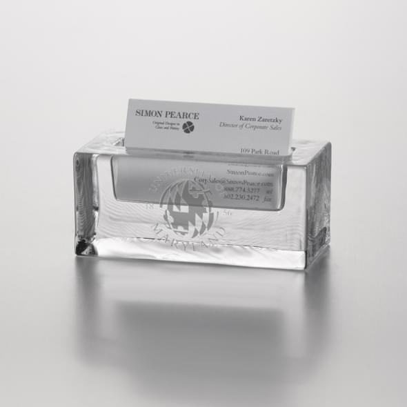 Maryland Glass Business Cardholder by Simon Pearce