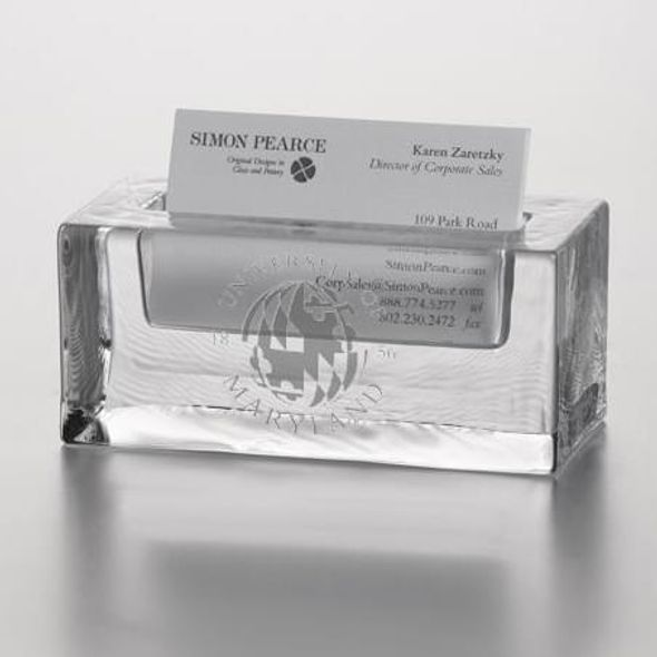 Maryland Glass Business Cardholder by Simon Pearce - Image 2