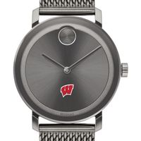 University of Wisconsin Men's Movado BOLD Gunmetal Grey with Mesh Bracelet