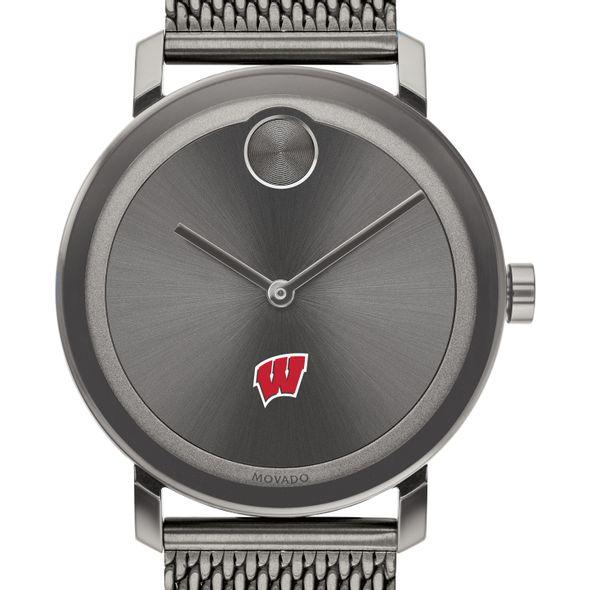 University of Wisconsin Men's Movado BOLD Gunmetal Grey with Mesh Bracelet