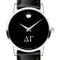 Delta Gamma Women's Movado Museum with Leather Strap