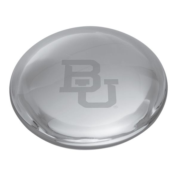 Baylor Glass Dome Paperweight by Simon Pearce - Image 2