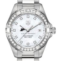Purdue University W's TAG Heuer Steel Aquaracer with MOP Dia Dial & Bezel