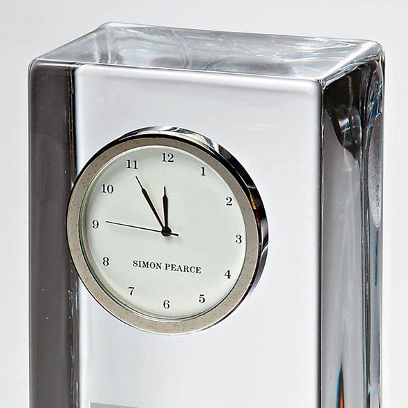 Michigan Ross Tall Glass Desk Clock by Simon Pearce - Image 3