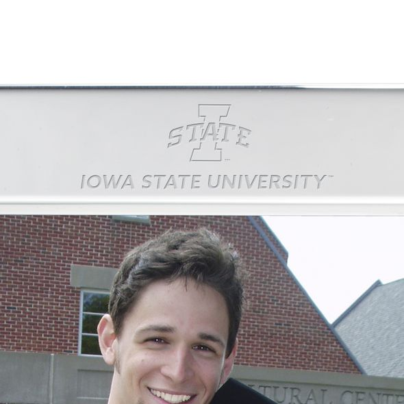 Iowa State University Polished Pewter 5x7 Picture Frame - Image 2