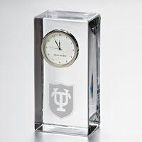 Tulane Tall Glass Desk Clock by Simon Pearce