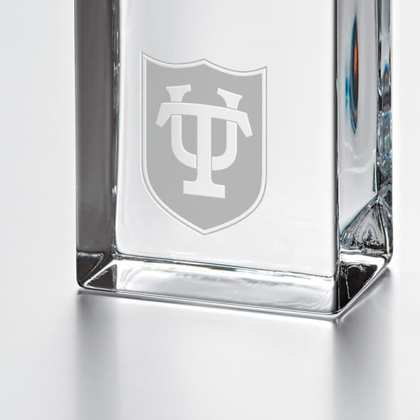 Tulane Tall Glass Desk Clock by Simon Pearce - Image 2