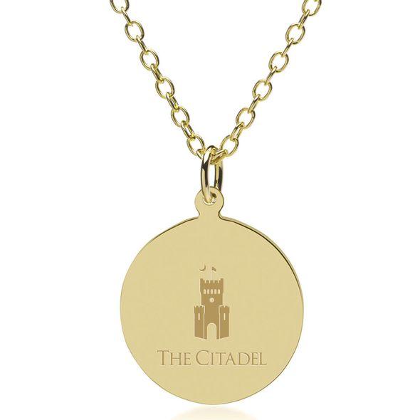 Citadel 18K Gold Pendant & Chain