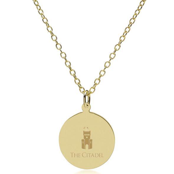 Citadel 18K Gold Pendant & Chain - Image 2