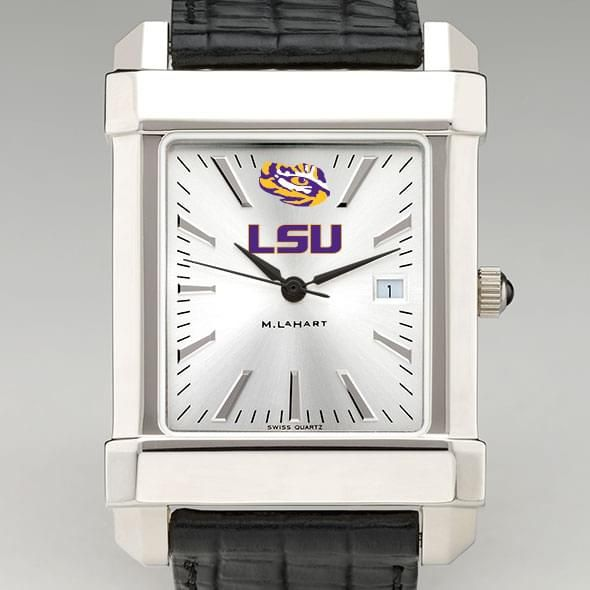 LSU Men's Collegiate Watch with Leather Strap - Image 1