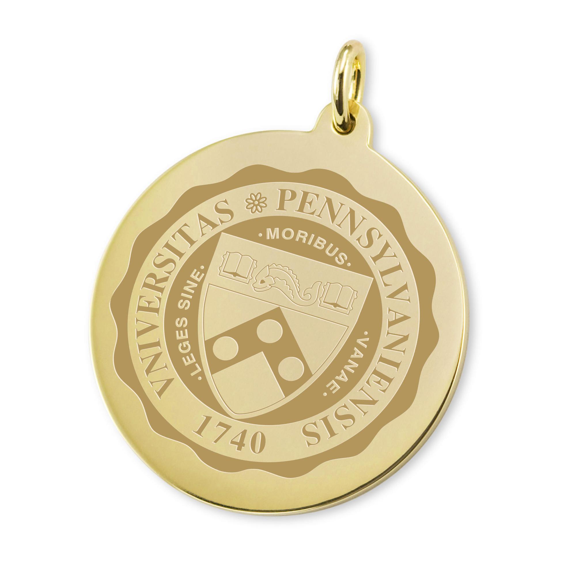 Penn 14K Gold Charm