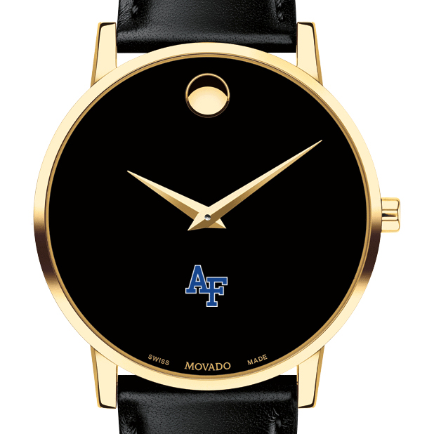 Air Force Academy Men's Movado Gold Museum Classic Leather