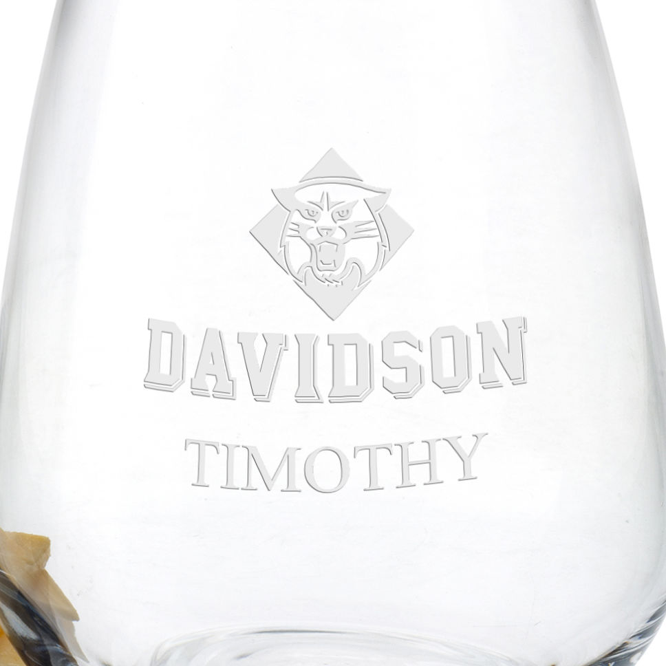 Davidson College Stemless Wine Glasses - Set of 2 - Image 3