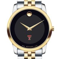 Texas Tech Men's Movado Two-Tone Museum Classic Bracelet