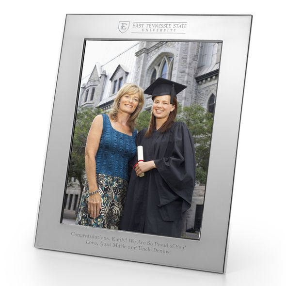 East Tennessee State University Polished Pewter 8x10 Picture Frame - Image 1