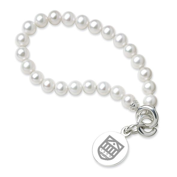 Tuck Pearl Bracelet with Sterling Silver Charm