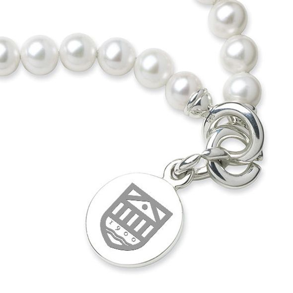 Tuck Pearl Bracelet with Sterling Silver Charm - Image 2