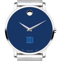 Duke University Men's Movado Museum with Blue Dial & Mesh Bracelet