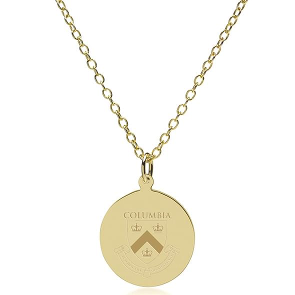 Columbia 14K Gold Pendant & Chain - Image 2