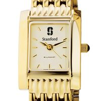 Stanford Women's Gold Quad Watch with Bracelet