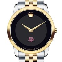Texas A&M Men's Movado Two-Tone Museum Classic Bracelet
