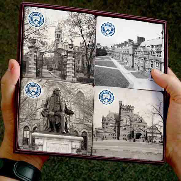 Penn Campus Marble Coasters - Image 2