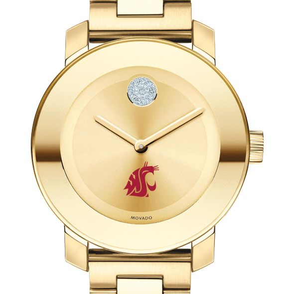 Washington State University Women's Movado Gold Bold