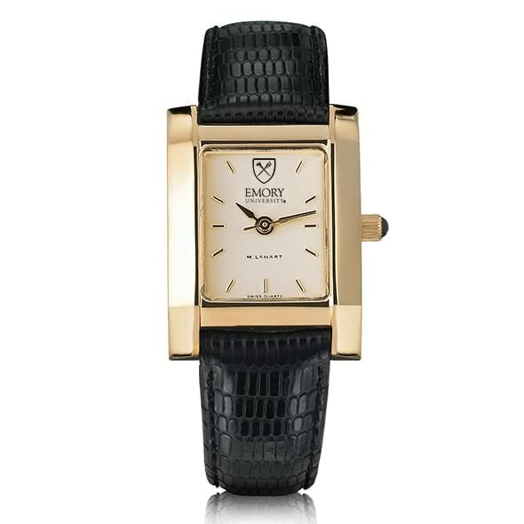 Emory Women's Gold Quad Watch with Leather Strap - Image 2