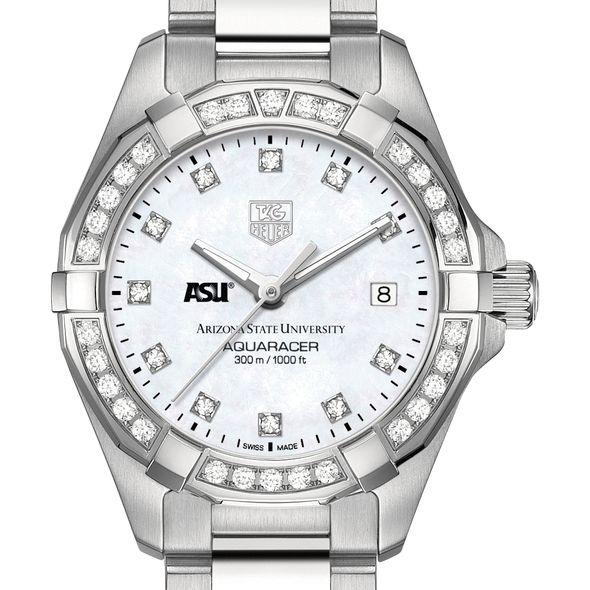 Arizona State W's TAG Heuer Steel Aquaracer with MOP Dia Dial & Bezel