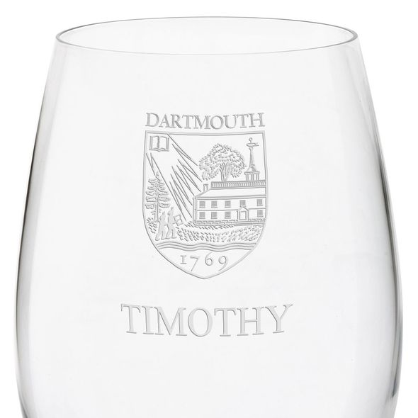 Dartmouth College Red Wine Glasses - Set of 4 - Image 3