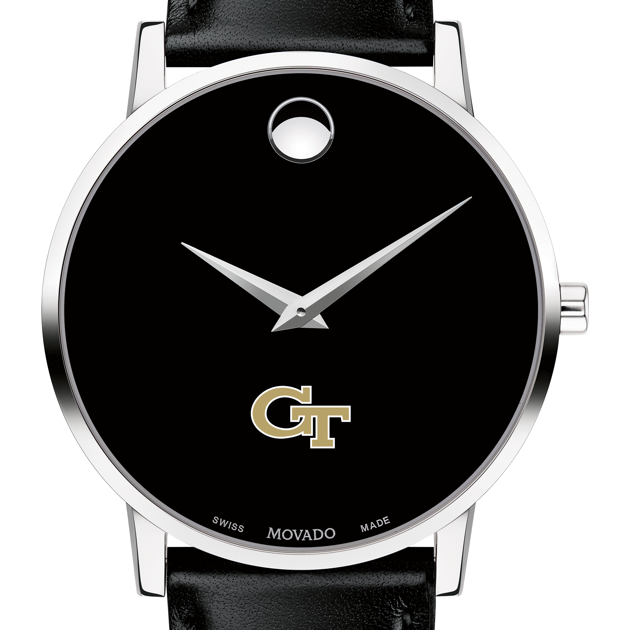 Georgia Tech Men's Movado Museum with Leather Strap