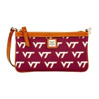 Virginia Tech  Dooney & Bourke Large Slim Wristlet