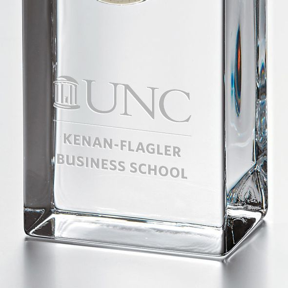 UNC Kenan-Flagler Tall Glass Desk Clock by Simon Pearce - Image 2