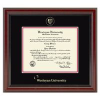 Wesleyan Diploma Frame, the Fidelitas