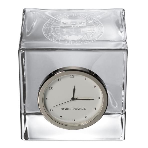 Boston College Glass Desk Clock by Simon Pearce - Image 2