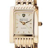 Holy Cross Women's Gold Quad Watch with Bracelet