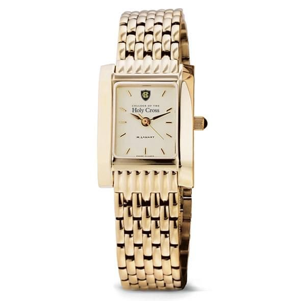 Holy Cross Women's Gold Quad Watch with Bracelet - Image 2