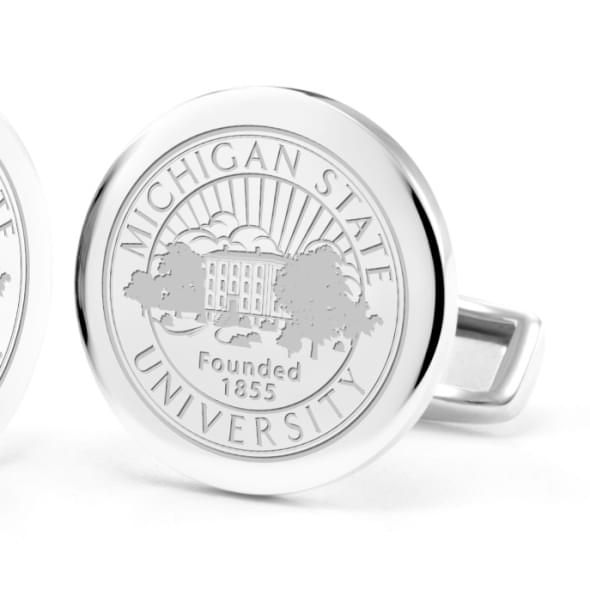 Michigan State University Cufflinks in Sterling Silver - Image 2