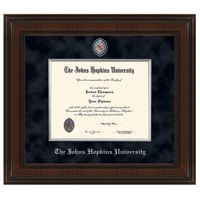 Johns Hopkins Excelsior Diploma Frame