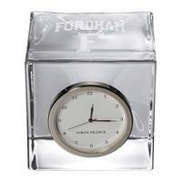 Fordham Glass Desk Clock by Simon Pearce
