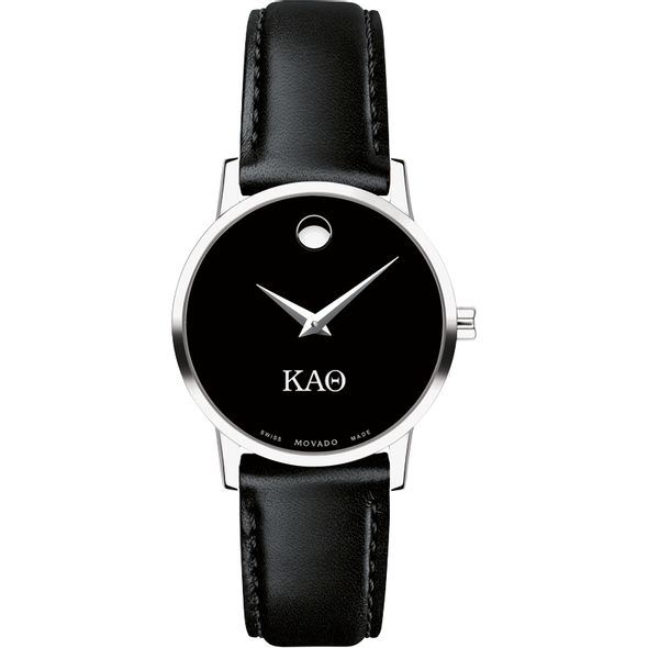 Kappa Alpha Theta Women's Movado Museum with Leather Strap - Image 2