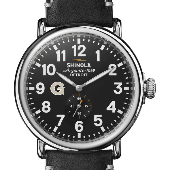 Georgetown Shinola Watch, The Runwell 47mm Black Dial