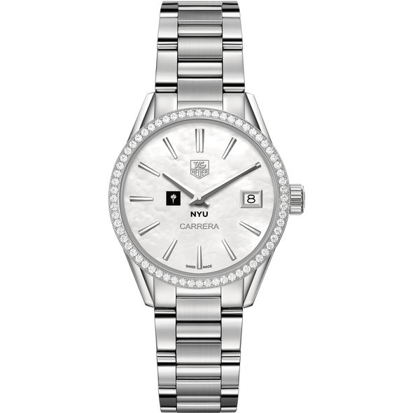 New York University Women's TAG Heuer Steel Carrera with MOP Dial & Diamond Bezel - Image 2