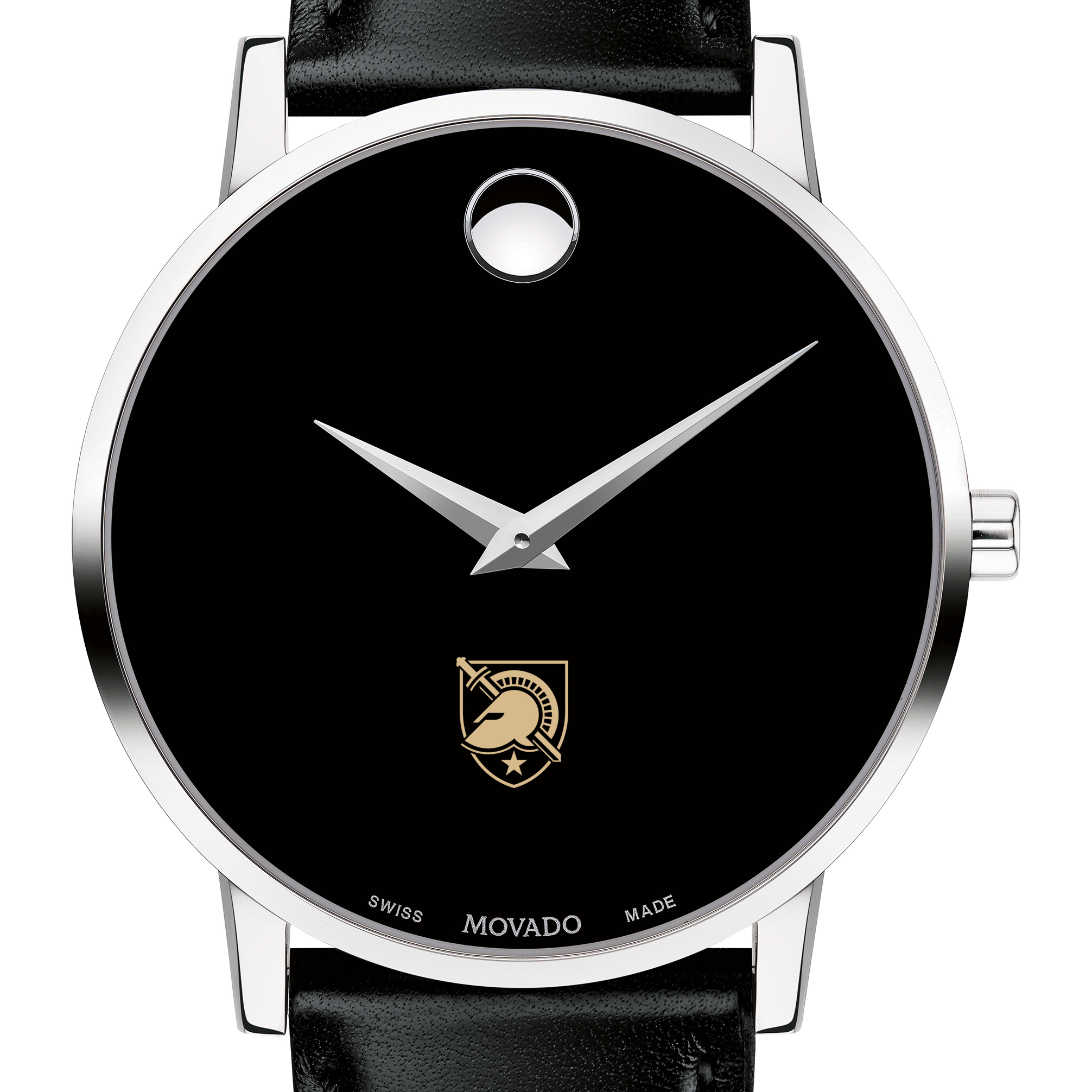 West Point Men's Movado Museum with Leather Strap
