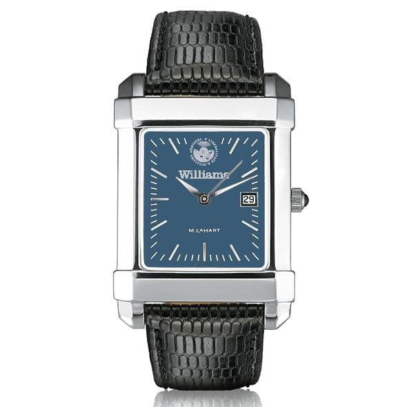 Williams College Men's Blue Steel Quad with Leather Strap - Image 2