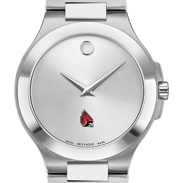 Ball State Men's Movado Collection Stainless Steel Watch with Silver Dial - Image 1
