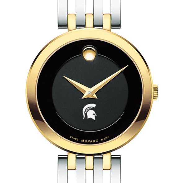 Michigan State University Women's Movado Esparanza Two-Tone Museum with Bracelet
