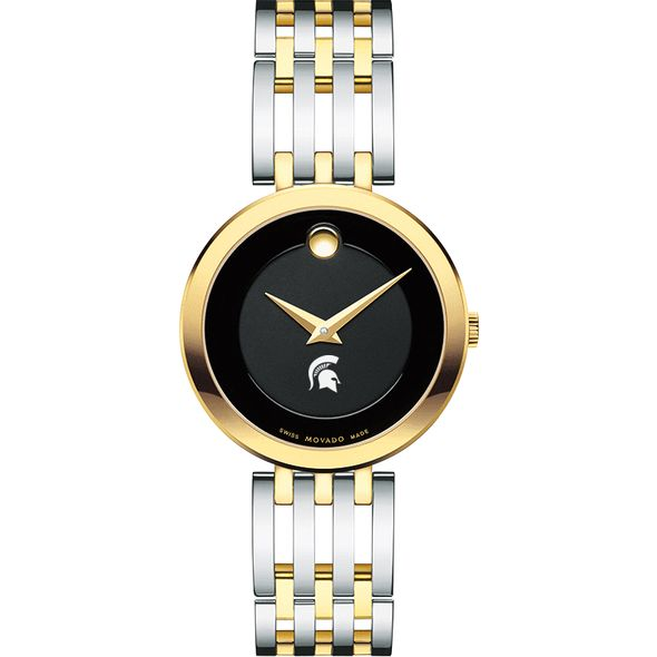 Michigan State University Women's Movado Esparanza Two-Tone Museum with Bracelet - Image 2